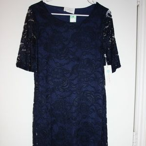 French Grey Lace Dress